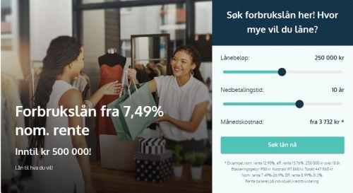 På lånemegleren_no kan du søke forbrukslån intill 500 000 kr