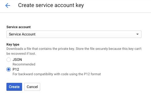 Google Analytics API Create Service Account
