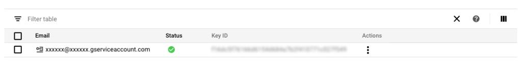 Google Analytics Service Account