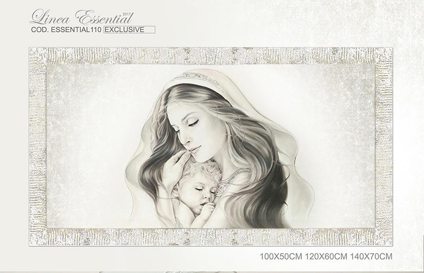 Cod. Essentiall110 Capezzale moderno Madonna con bambino Maternità ...