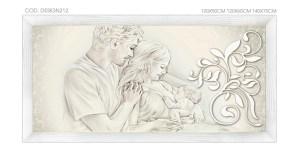 """DESIGN212 Quadro capezzale moderno su tela """"Unione Famiglia"""" (non a tema sacro)"""