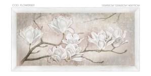 FLOWERS01 quadro moderno su tela con fiori floreale mannolie