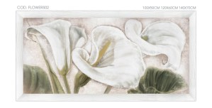 FLOWERS02 quadro moderno su tela con fiori floreale calle ambientazione