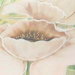FLOWERS601 quadro moderno su tela con fiori floreale papaveri bianchi