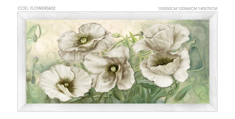 FLOWERS602 Quadro moderno su tela con fiori \