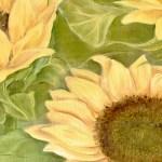 FLOWERS604 quadro moderno su tela con fiori floreale girasoli