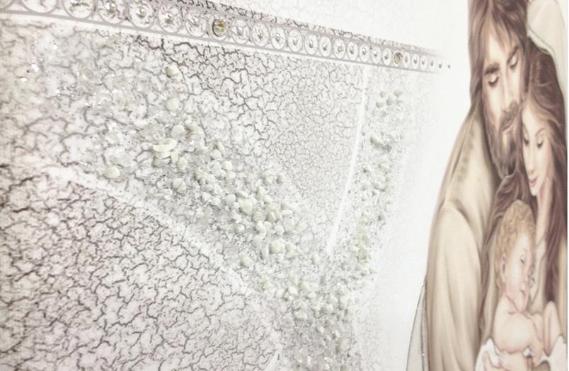 PRESTIGE201 Capezzale quadro moderno su tela sacro sacra famiglia per la camera da letto - Dettaglio