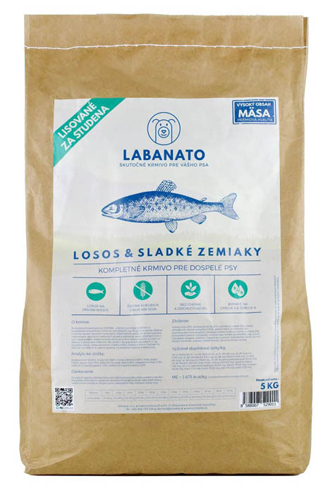 naše granuly LABANATO krmivo granule pre psov lisované za studena
