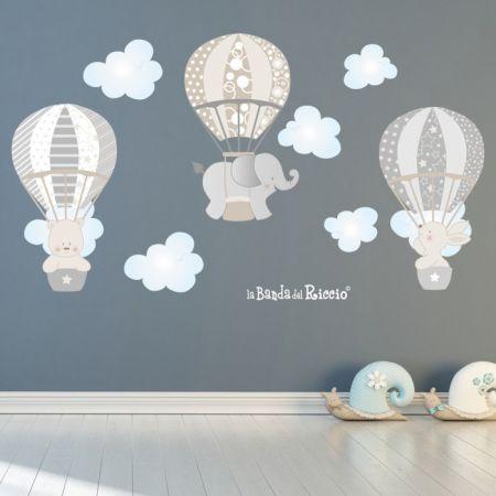 Dimensioni cm 60 x 125 cm La Banda Del Riccio Adesivi Murali Per Bambini