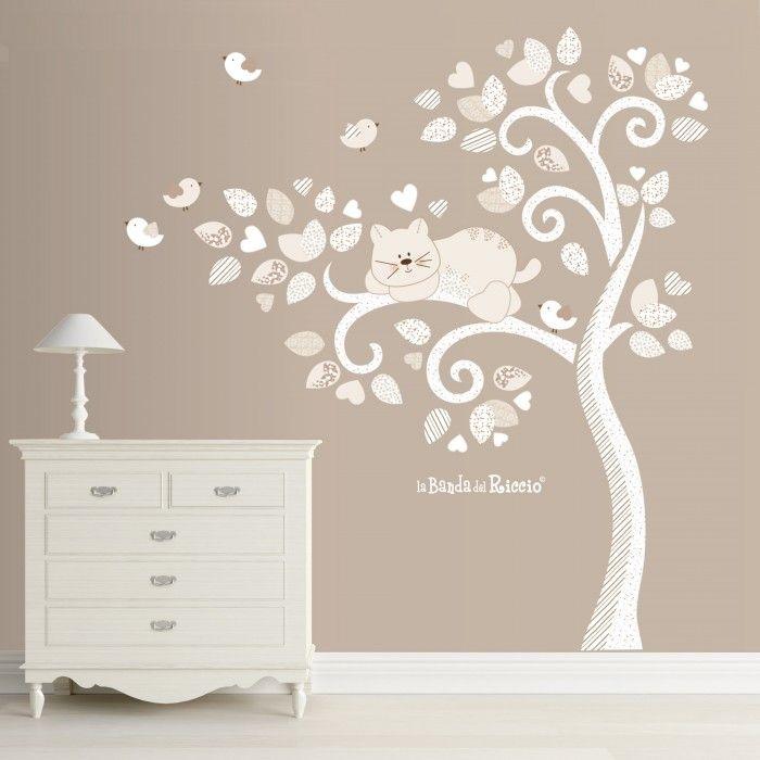 Guarda anche gli altri adesivi murali con uccellini su evergreen orange. Tree Of Cat And Birds