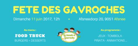 Affiche de la fête des Gavroches 2017