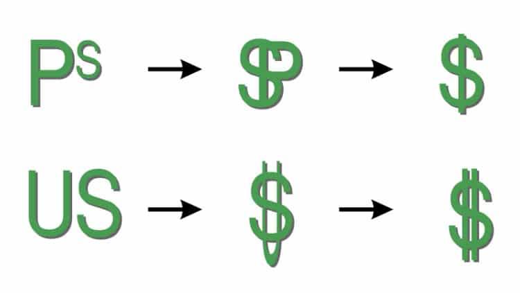 Le signe du dollarissu du Peso ?
