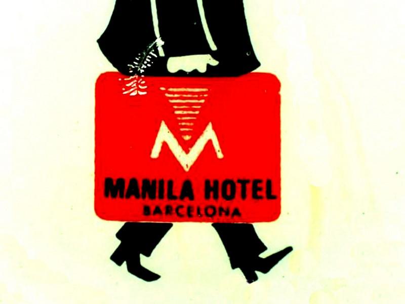Resultado de imagen de bar del hotel manila de barcelona
