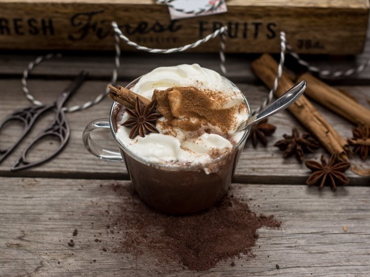 hot chocolate cinnamon & Anise