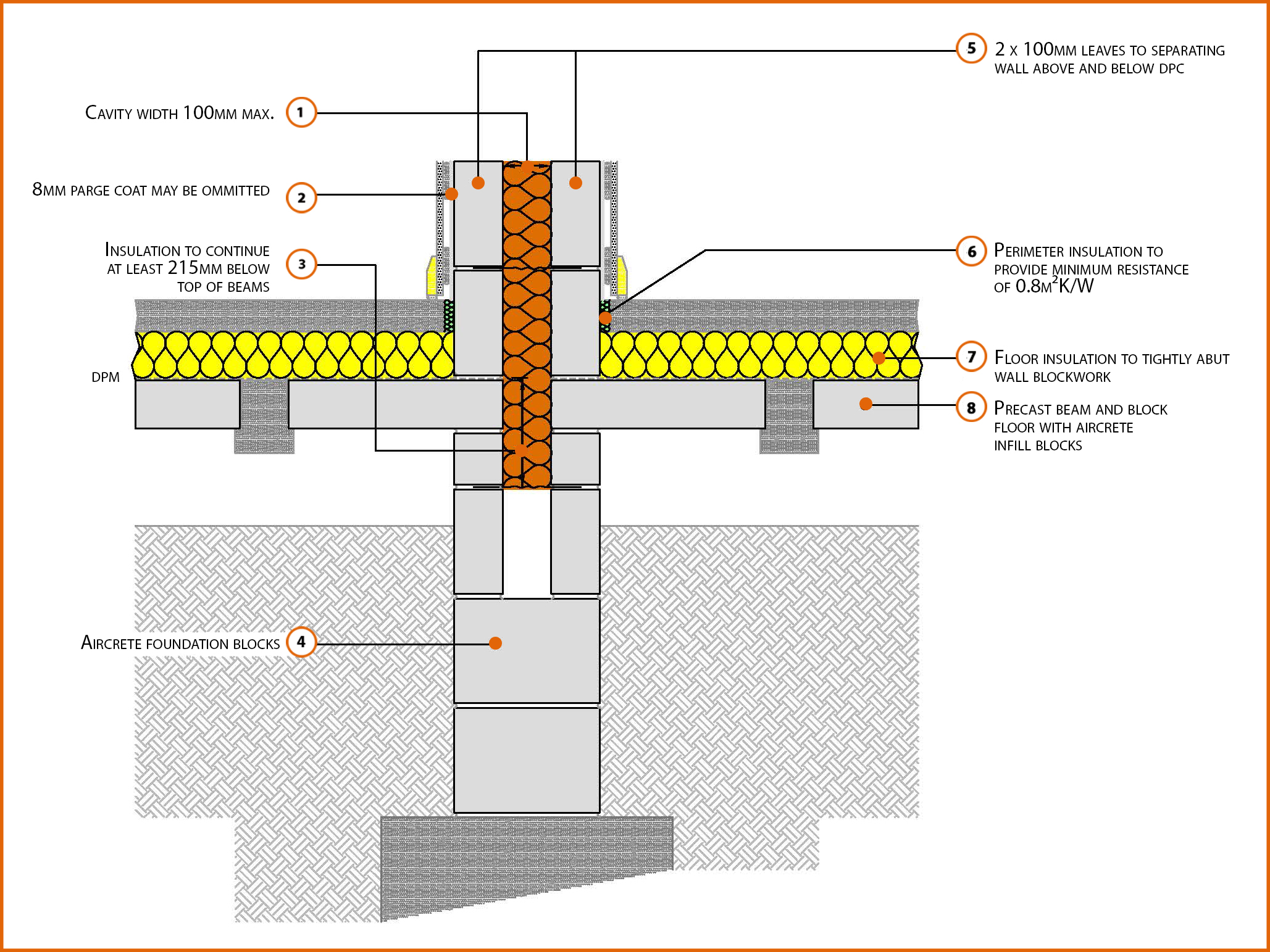P1pcff2 Suspended Beam And Block Floor Insulation Above