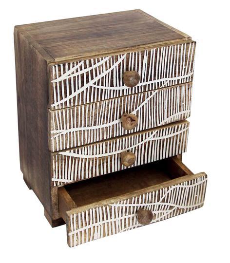 rangement bois 4 tiroirs nest