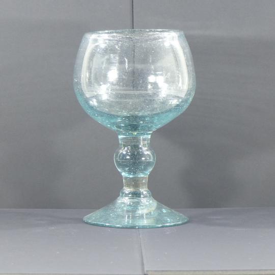 vase verre sur pied douche verre bulle