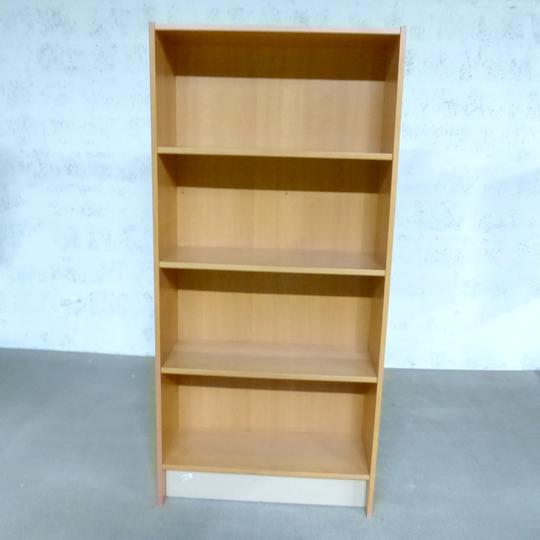 meuble rangement ikea en melamine finition hetre 84x34x180cm marron