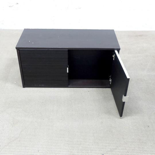Meuble Rangement Murale Ikea En Melamine 85x36x42cm Noir Label Emmaus