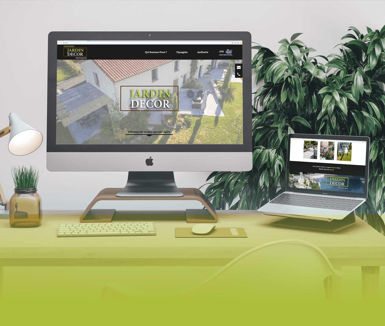 Création du site internet de Jardin Décor - Agence web - Label Site Nantes