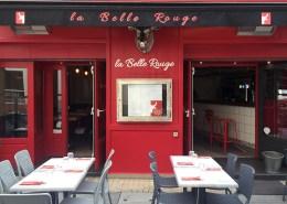 Lambrequin lettrage et logo pour Restaurant La Belle Rouge Quartier 50 Otages à Nantes (44) - Label Communication