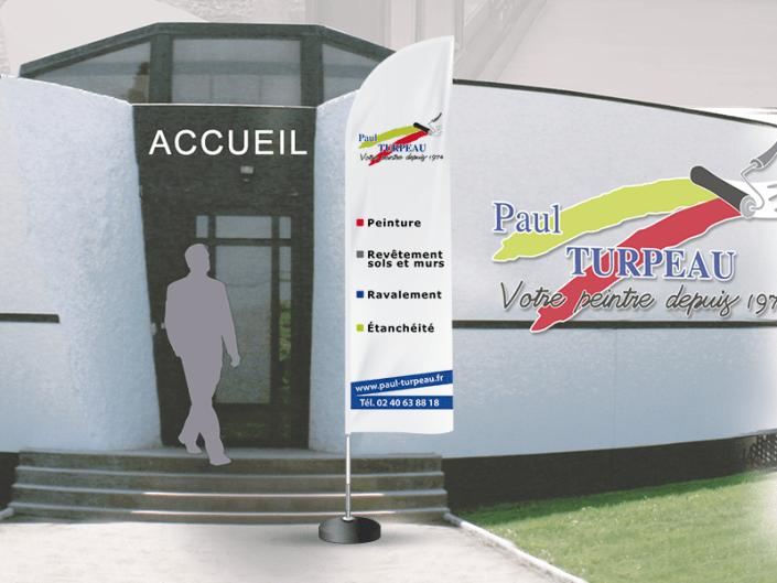 Voile ou oriflamme pour Paul Turpeau - Label Communication