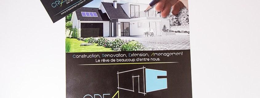 Flyer et carte de visite CREA Construction (44)