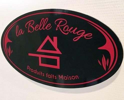 Plaque produits faits Maison pour La Belle Rouge, restaurant à viande à Nantes (44)