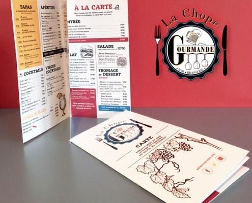 Menu pour le restaurant La Chope Gourmande à Nantes (44)