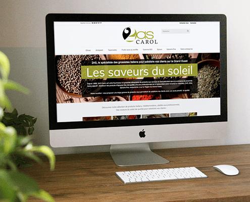 Création du site catalogue de 2AS Carol à Nantes (44)