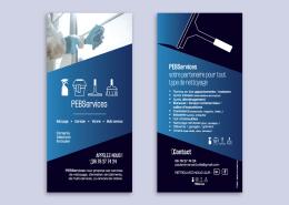 Création d'un flyer recto verso pour l'entreprise PEBServices par Label Communication