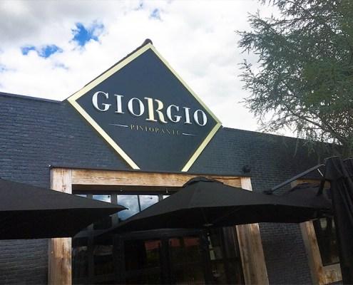 Création, fabrication et pose d'enseigne pour le restaurant GIORGIO à Nantes (44)