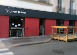 Façade du restaurant Le Croque Bedaine à Nantes (44)