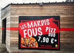 Panneaux dibond grand format - pizzeria Bouaye
