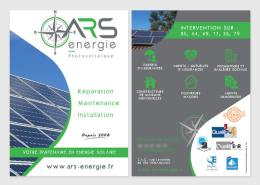 Conception de la communication globale d'ARS Énergie, professionnel du photovoltaïque en Vendée (85)