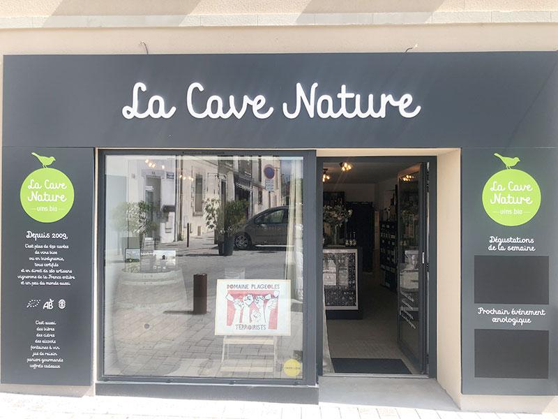 Réalisation façade cave à vin - La Cave Nature - Bouguenais - Label Communication