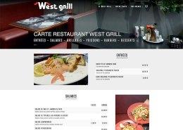 Nouvelle présentation pour la carte du restaurant Un nouveau site pour West Grill