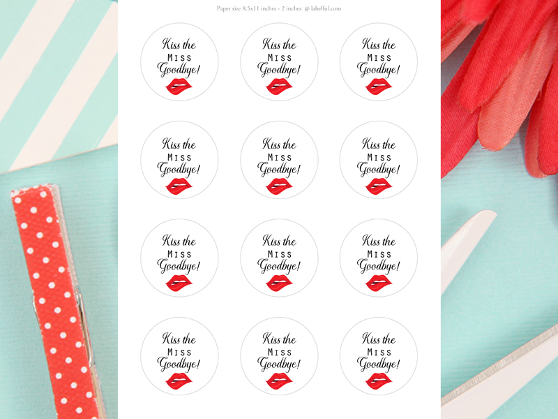 picture about Kiss the Miss Goodbye Printable identify Kiss the Pass up Goodbye