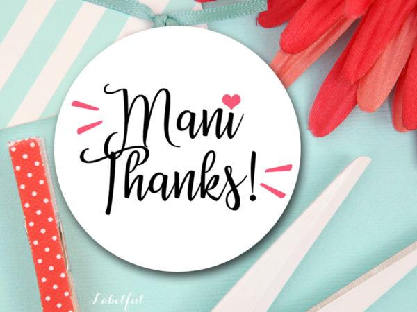 photograph regarding Mani Thanks Free Printable named Mani Owing