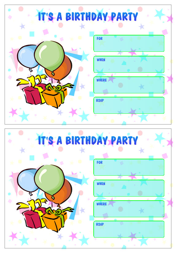 Personalized Birthday Party Invitation Templates Create Your Own Birthday Tags