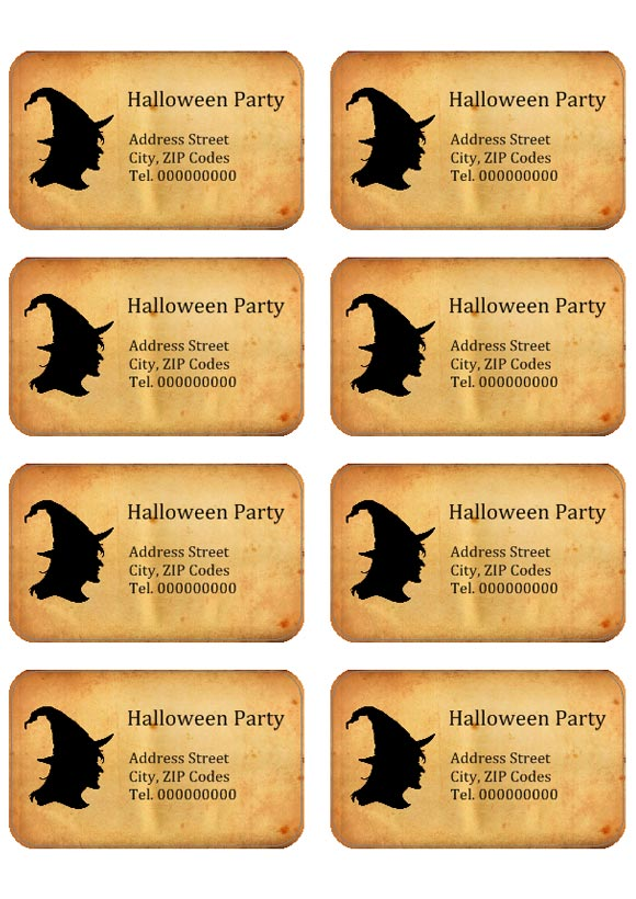 Halloween Labels Labeljoy Labels Printing Software Barcodes Generator