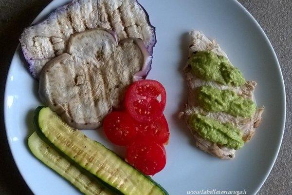 pollo con salsa di zucchine