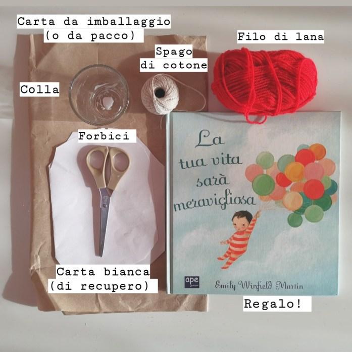 come realizzare una confezione regalo con la neve di carta