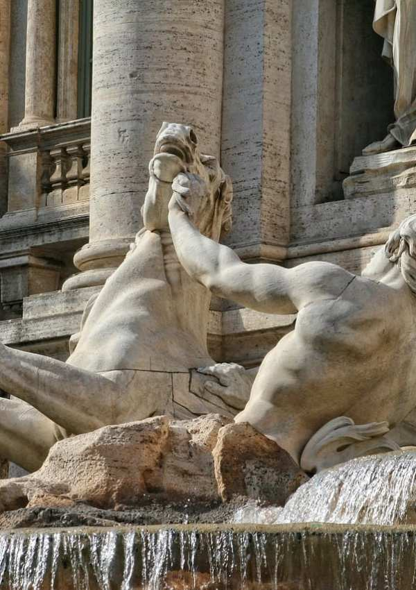 Trevi Fountain details