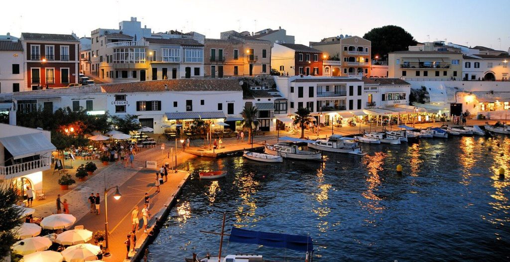 a charming city in the coast of Spain during summer time