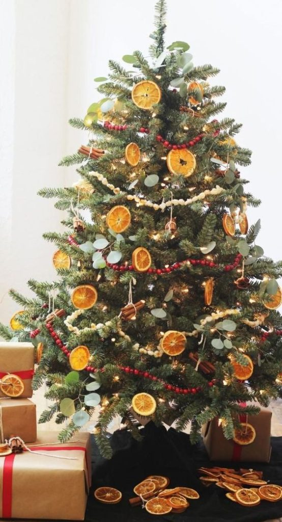 Dried Fruits Christmas Tree | Want ideas for unique Christmas trees for the 2020 holiday season? Find inspiration ideas for your Christmas tree decoration from creative and unique xmas trees. From white, upside down, best Christmas trees on wall, pink Christmas trees, and even Disney Christmas tree decorations. From big and small unique Christmas tree ideas. Perfect for kids and for the holidays. #uniquechristmastree #christmastreeideas #christmastreeideas #christmas