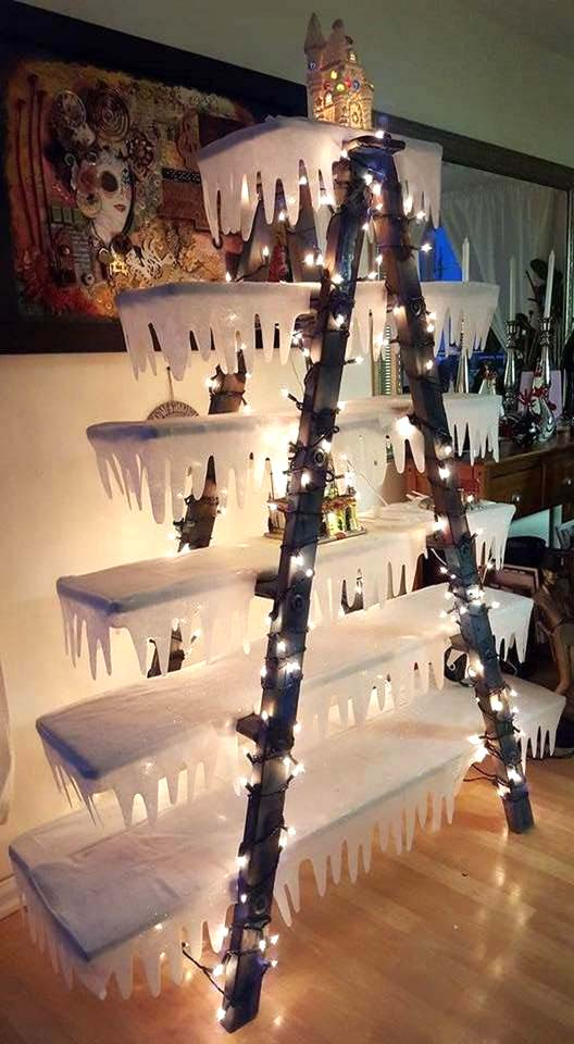 Unique Christmas Tree Made From Staircase | Want ideas for unique Christmas trees for the 2020 holiday season? Find inspiration ideas for your Christmas tree decoration from creative and unique xmas trees. From white, upside down, best Christmas trees on wall, pink Christmas trees, and even Disney Christmas tree decorations. From big and small unique Christmas tree ideas. Perfect for kids and for the holidays. #uniquechristmastree #christmastreeideas #christmastreeideas #christmas