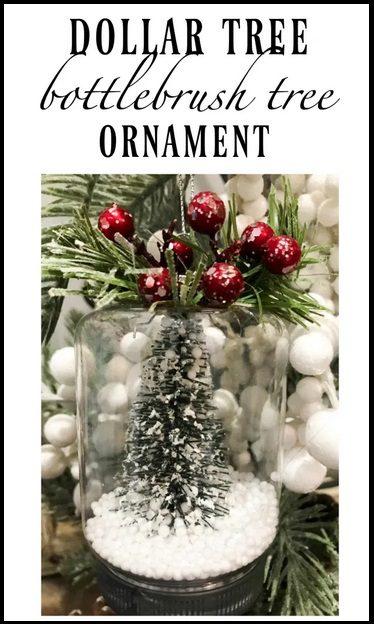 Dollar Tree Bottle brush Tree Ornament