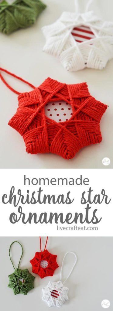 Homemade Christmas Star Ornaments for the xmas tree