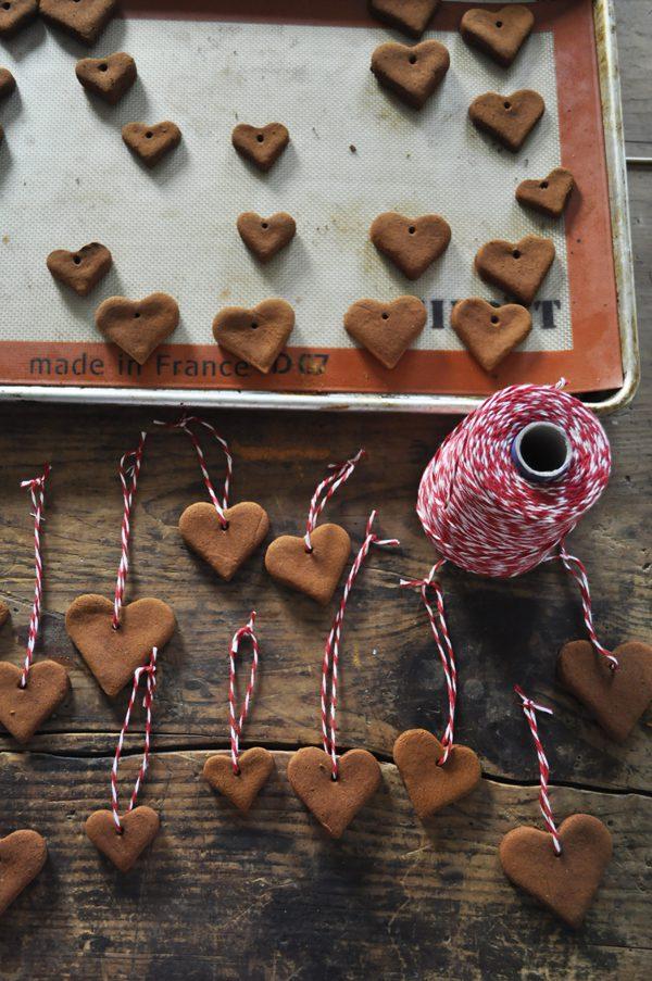 Heart Shaped Gingerbread Ornaments Christmas Tree Ornaments DIY